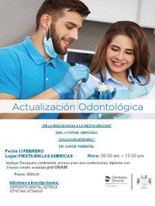 """Actualización Odontológica """"De la Endodoncia a la Restauración"""" y """"Solución Integral"""""""